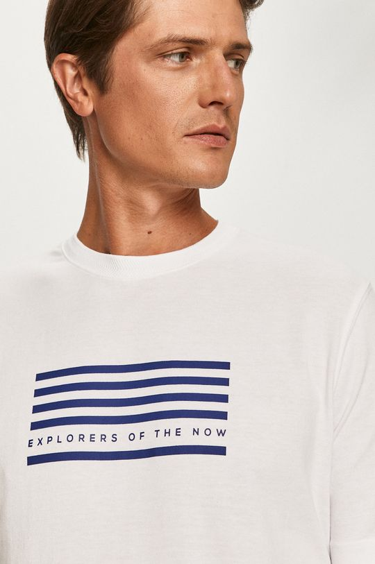 biały Scotch & Soda - T-shirt