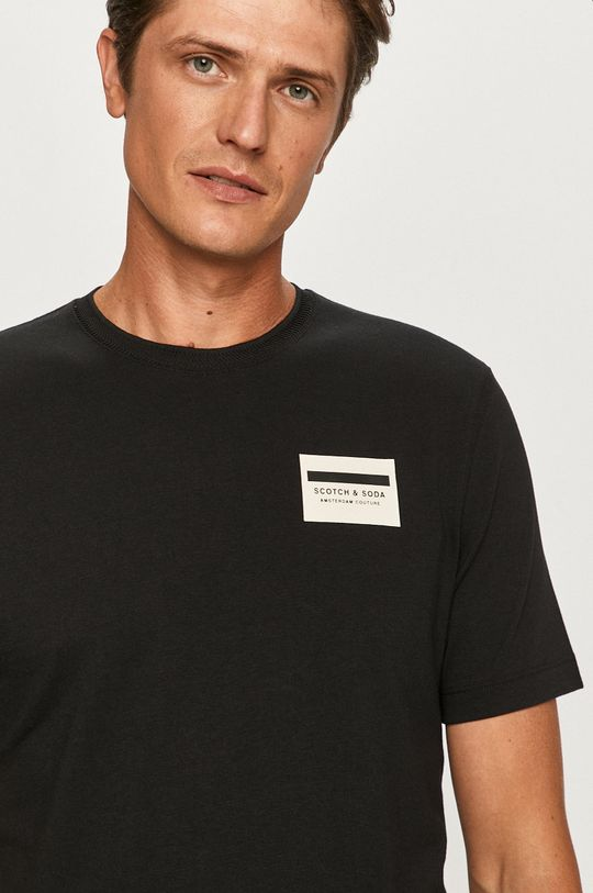 czarny Scotch & Soda - T-shirt