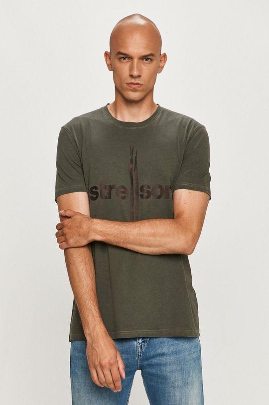 vojenská zelená Strellson - Tričko Pánsky