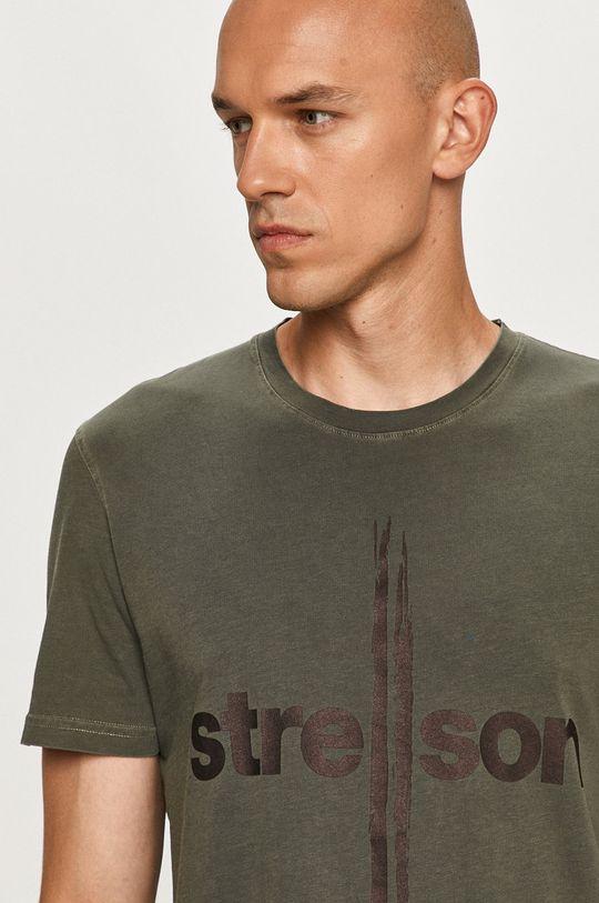 vojenská zelená Strellson - Tričko