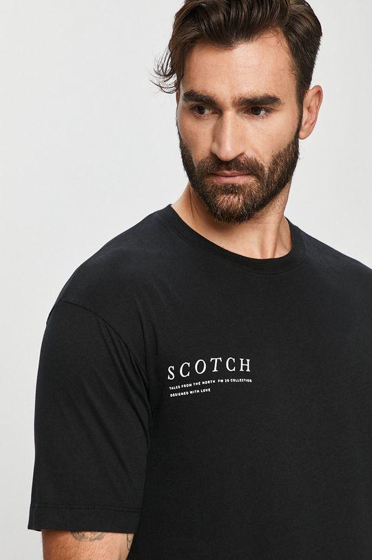 czarny Scotch & Soda - T-shirt Męski
