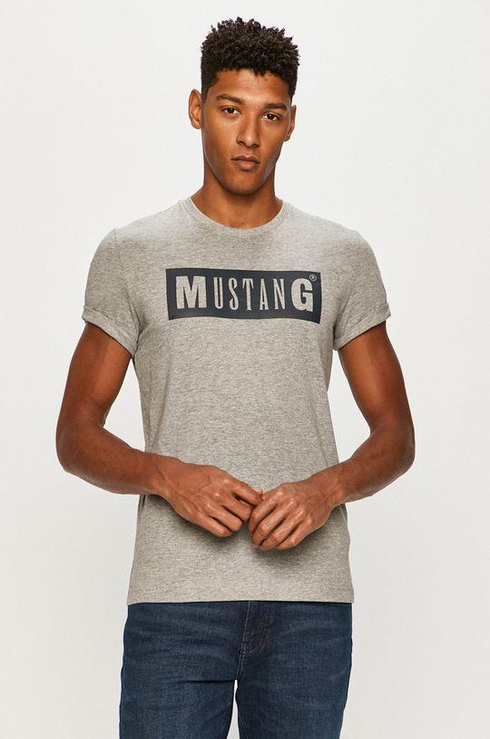 sivá Mustang - Tričko Pánsky