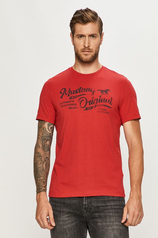 rosu Mustang - Tricou De bărbați