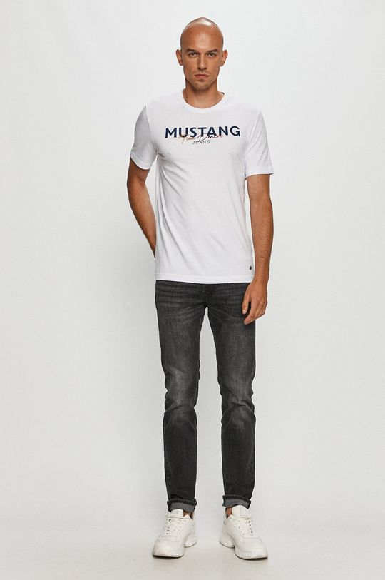 Mustang - Tricou alb