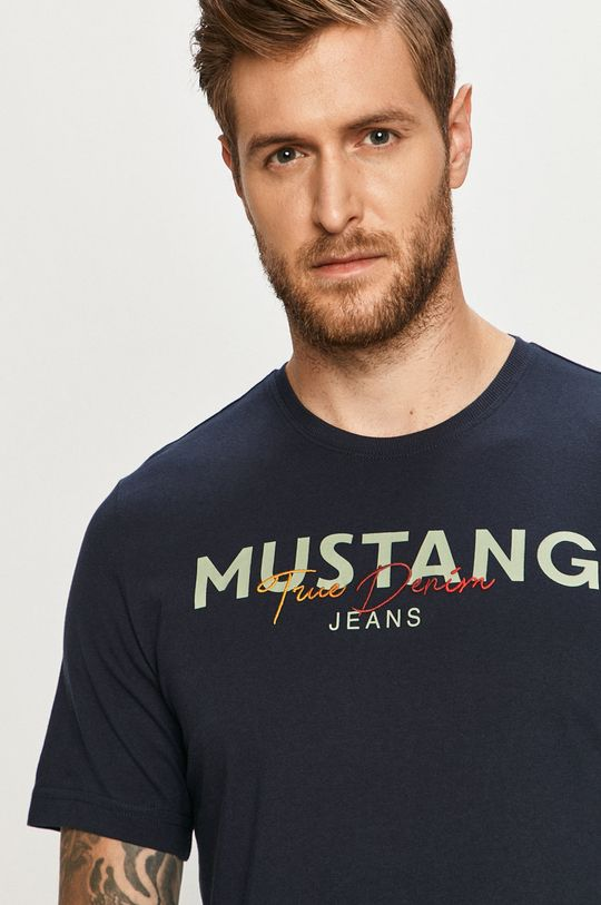 bleumarin Mustang - Tricou
