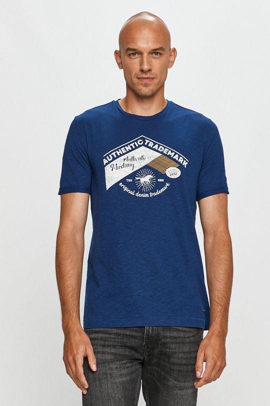 albastru Mustang - Tricou De bărbați