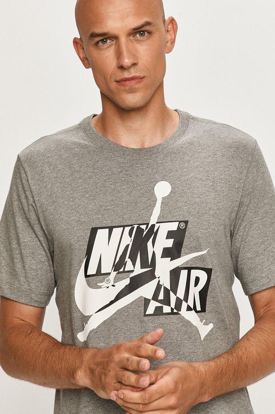 szary Jordan - T-shirt Męski