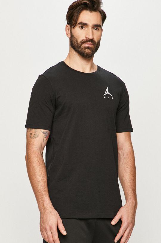 czarny Jordan - T-shirt Męski