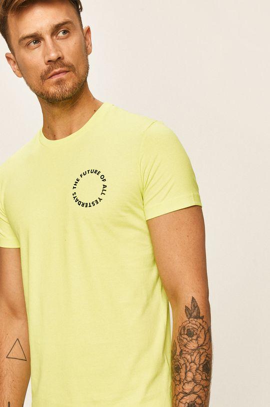žlutě zelená Diesel - Tričko Pánský