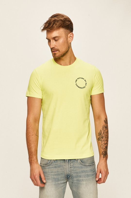 žlutě zelená Diesel - Tričko