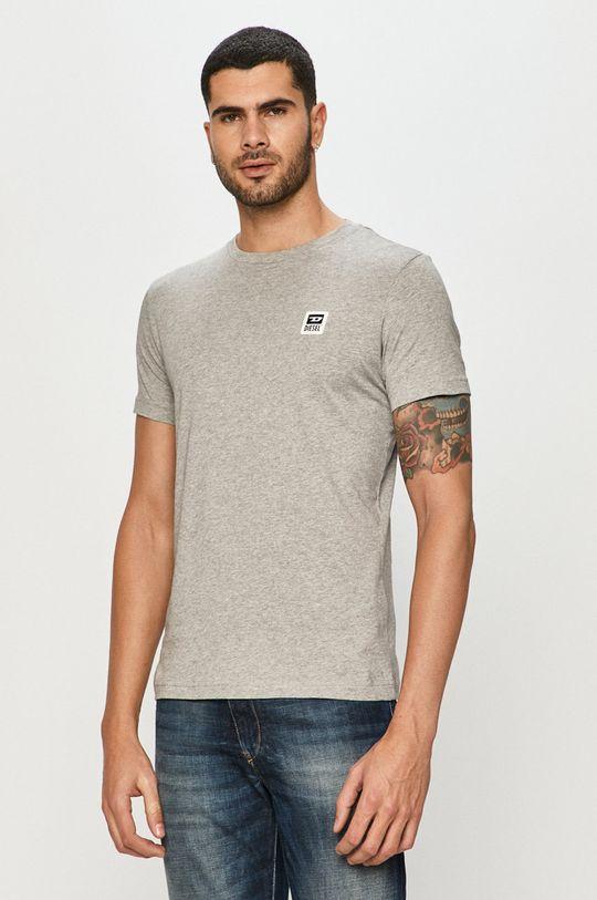 szary Diesel - T-shirt Męski