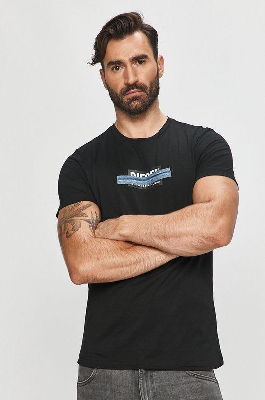 czarny Diesel - T-shirt Męski