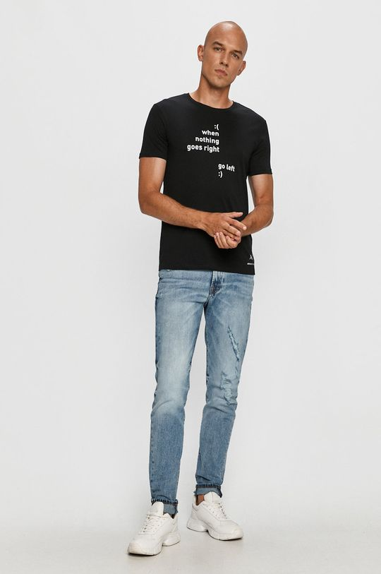 Armani Exchange - Tricou negru