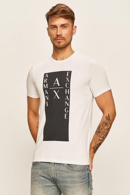 biały Armani Exchange - T-shirt Męski