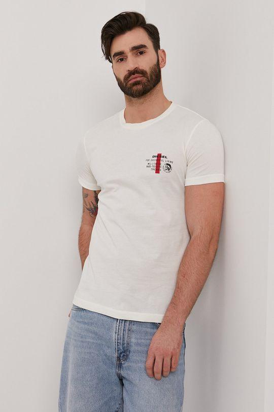 kremowy Diesel - T-shirt