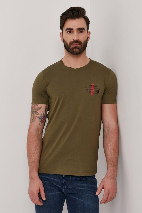 oliwkowy Diesel - T-shirt Męski