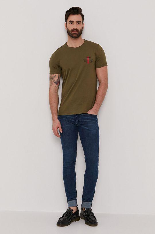 Diesel - T-shirt oliwkowy