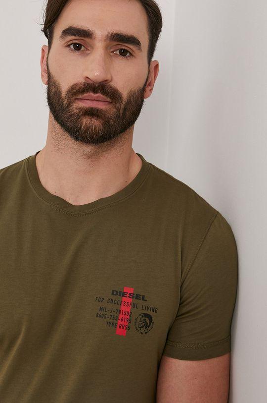 oliwkowy Diesel - T-shirt