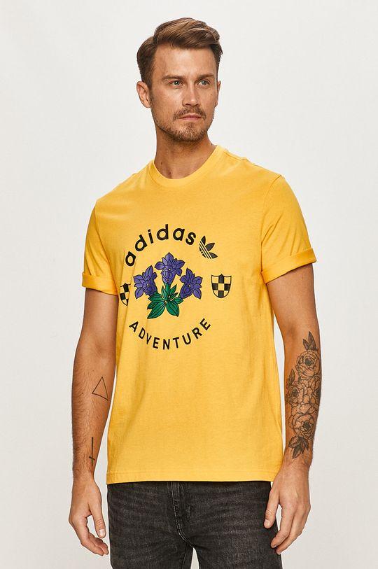 žltá adidas Originals - Tričko Pánsky