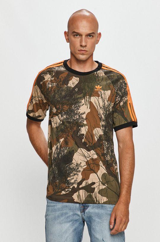 vojenská zelená adidas Originals - Tričko Pánsky