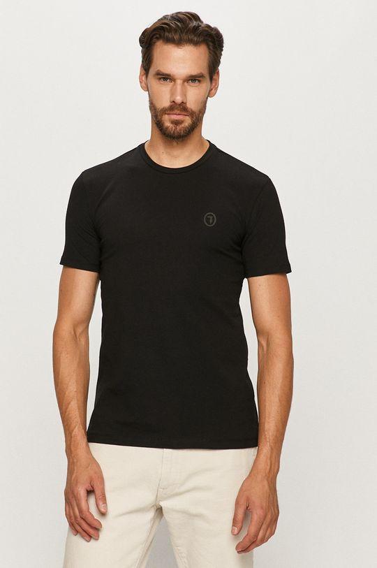 czarny Trussardi Jeans - T-shirt Męski