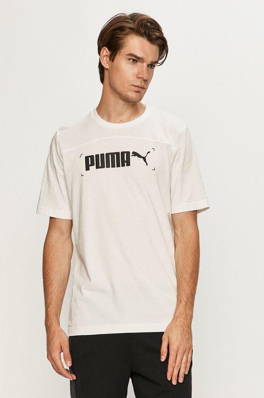 bílá Puma - Tričko Pánský