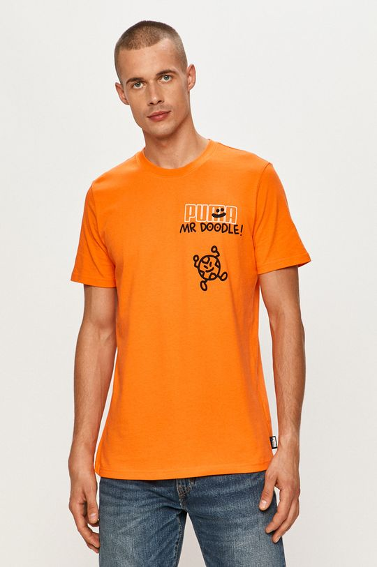 oranžová Puma - Tričko x Mr Doodle
