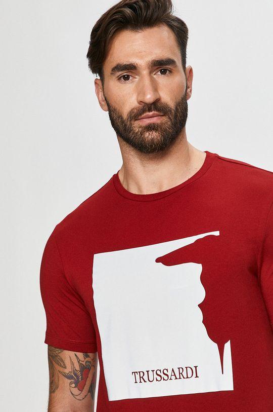 czerwony Trussardi Jeans - T-shirt Męski