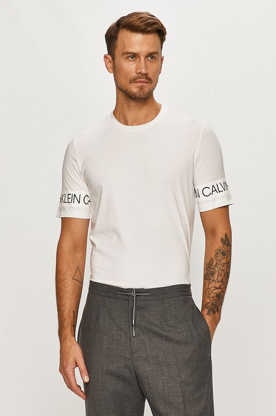 alb Calvin Klein Performance - Tricou De bărbați