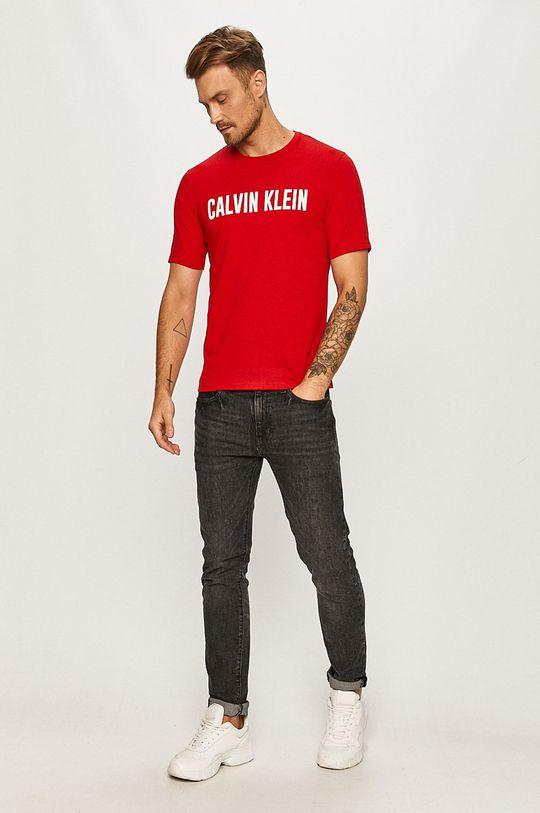 Calvin Klein Performance - Tricou rosu