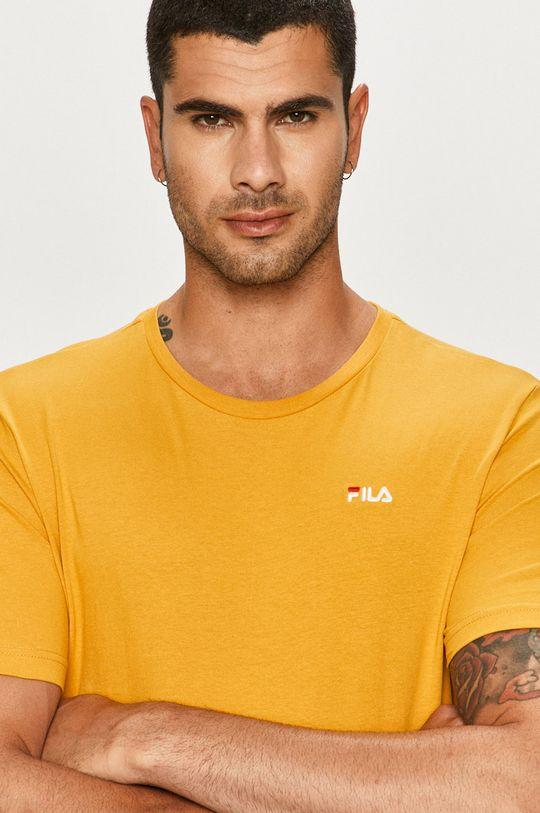 žltá Fila - Tričko Pánsky
