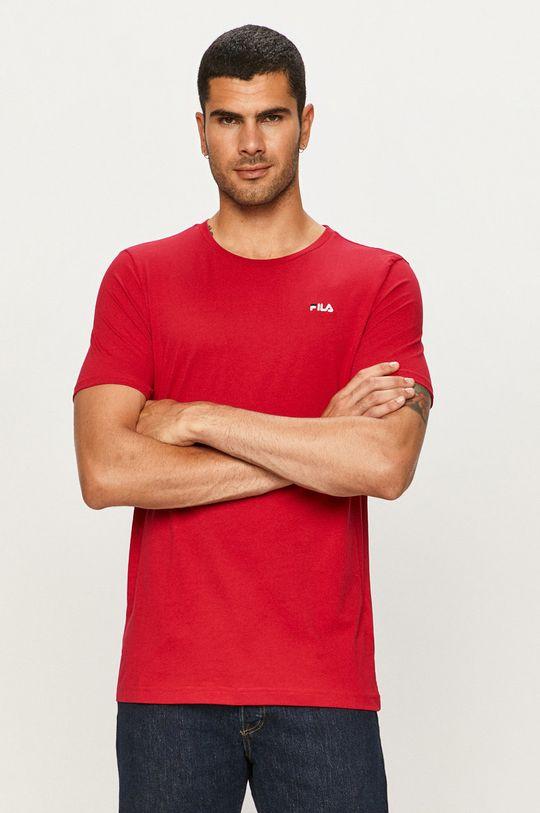 purpurowy Fila - T-shirt Męski