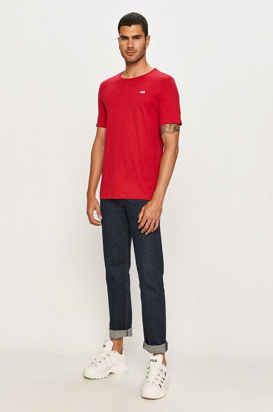 Fila - T-shirt purpurowy