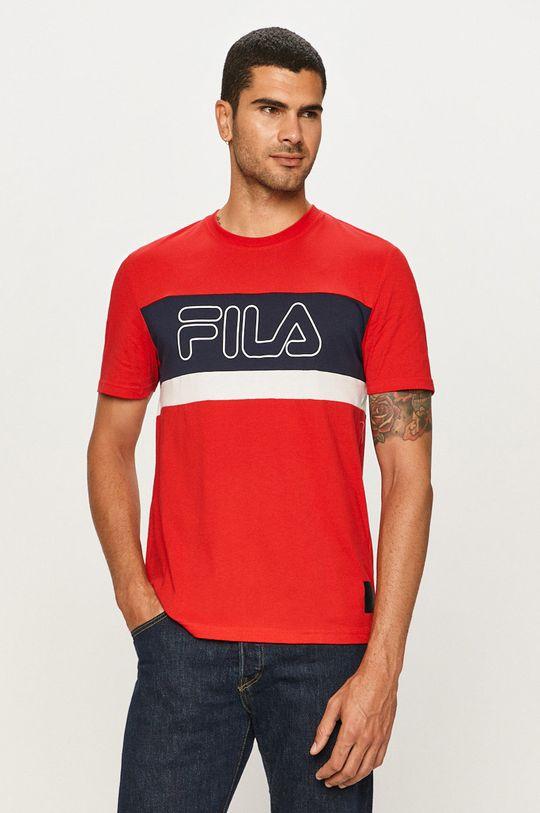 czerwony Fila - T-shirt Męski