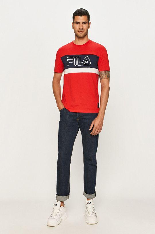 Fila - T-shirt czerwony