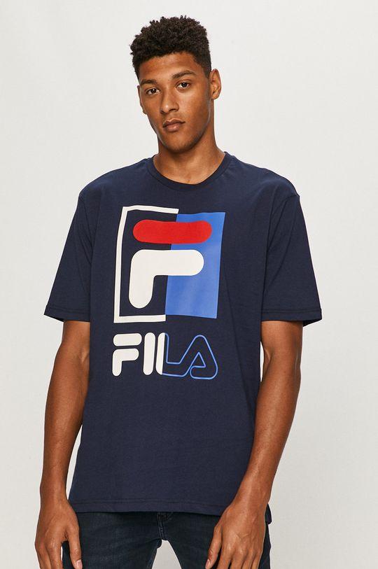 granatowy Fila - T-shirt Męski