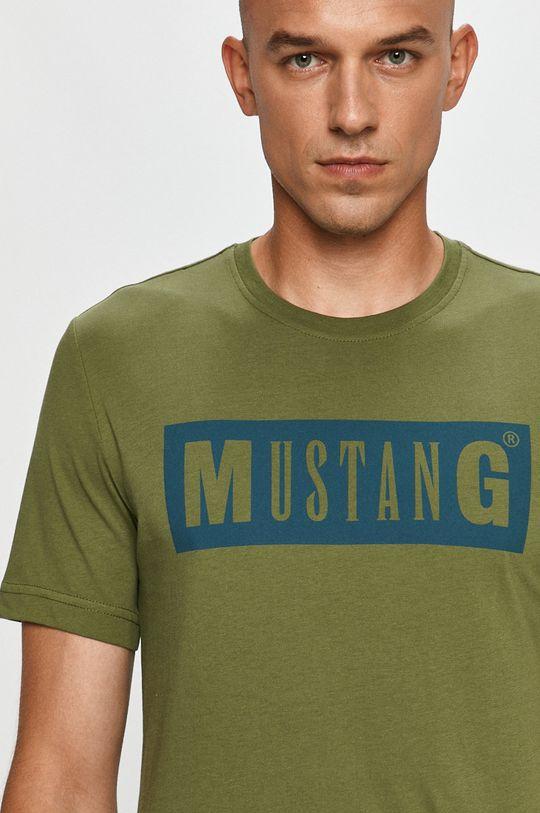 hnedozelená Mustang - Tričko