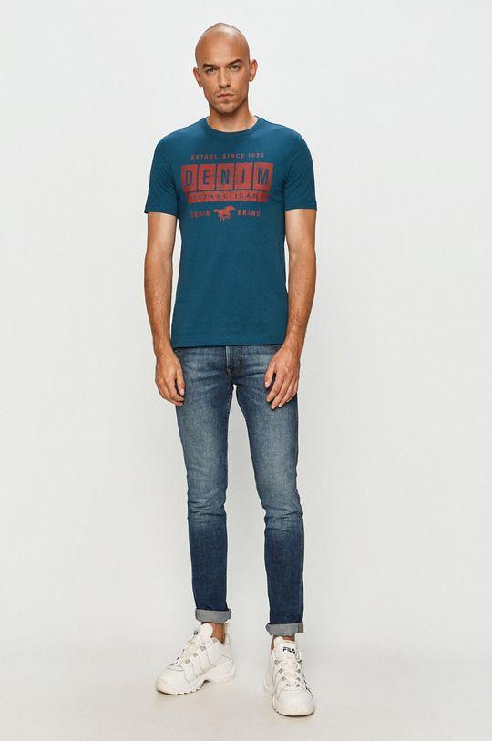 Mustang - Tričko ocelová modrá