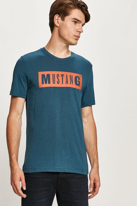 oceľová modrá Mustang - Tričko Pánsky