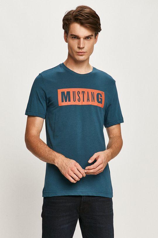 oceľová modrá Mustang - Tričko