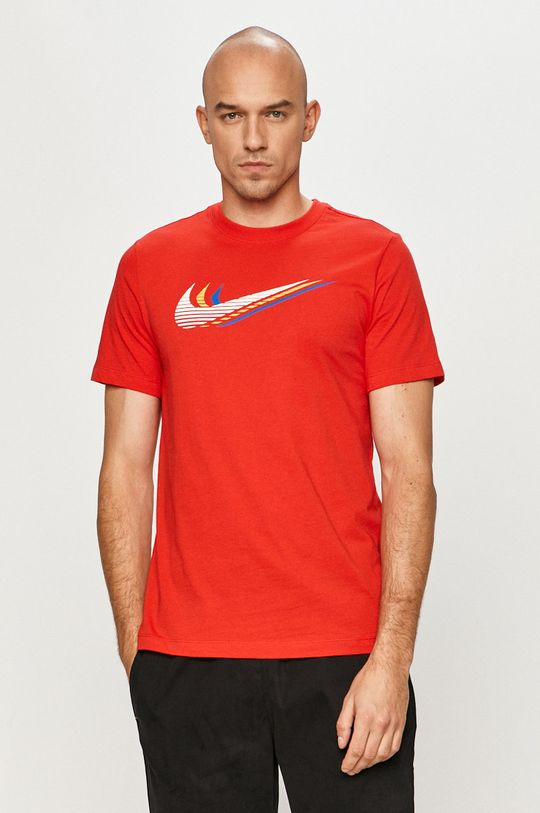 czerwony Nike Sportswear - T-shirt Męski