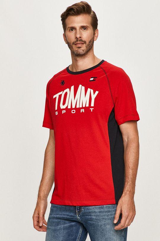 červená Tommy Sport - Tričko Pánsky