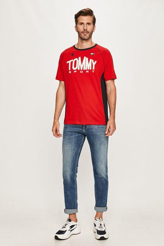 Tommy Sport - Tričko červená