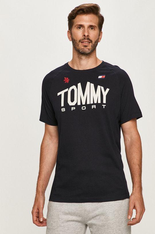 tmavomodrá Tommy Sport - Tričko Pánsky