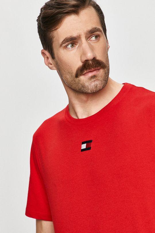 czerwony Tommy Sport - T-shirt