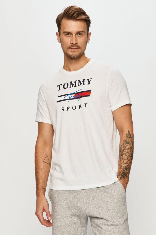 bílá Tommy Sport - Tričko Pánský