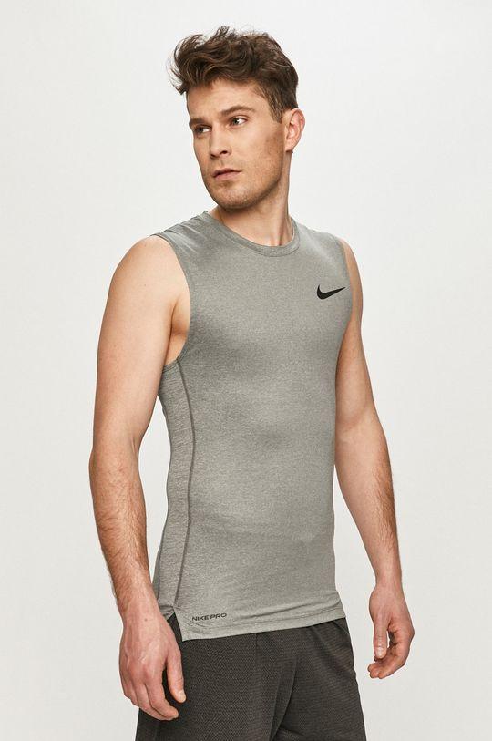jasny szary Nike - T-shirt Męski