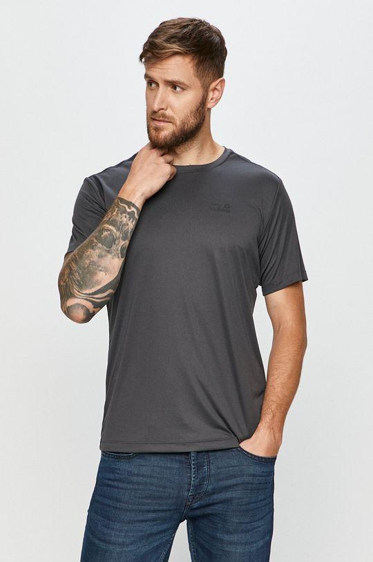 grafitowy Jack Wolfskin - T-shirt Męski