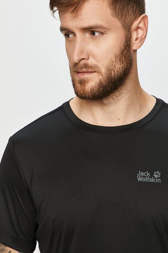 czarny Jack Wolfskin - T-shirt
