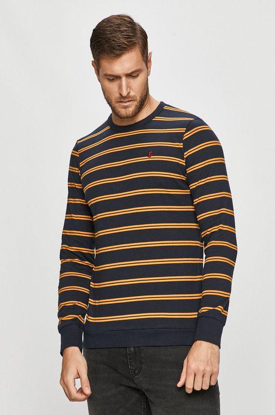 tmavomodrá Tom Tailor Denim - Tričko s dlhým rúkavom Pánsky